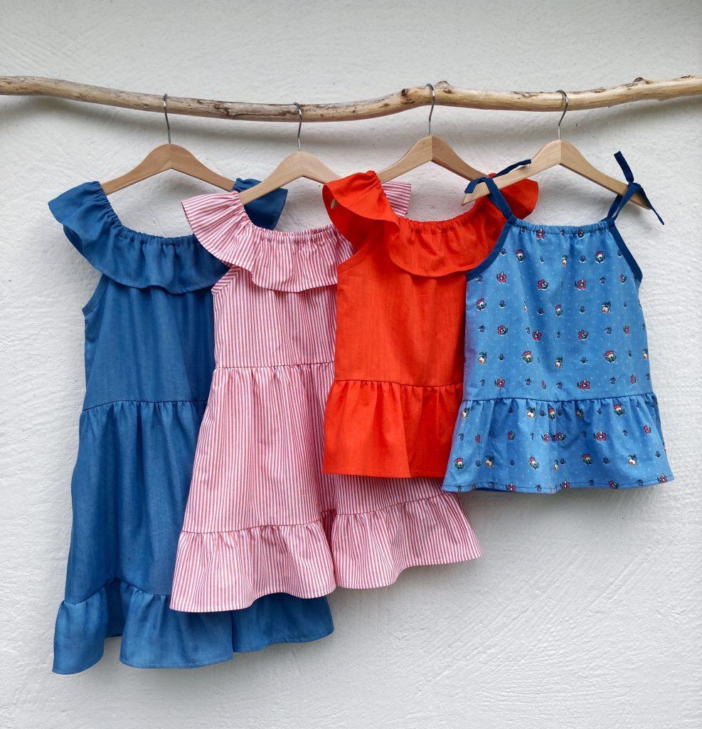 Sy en nem sommerkjole med lommer til piger i str. 110-116-122-128 med PDF syopskrift