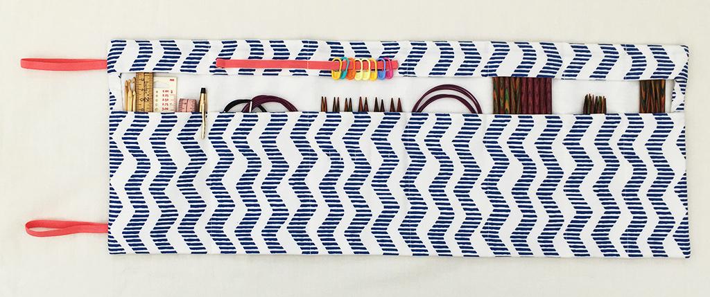 Sy et strikkepindeetui til rundpinde eller strømpepinde